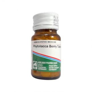 Medicines Mall - Adel Pekana Phytolacca Berry (3X) (20 GM) Triturations / Homoeo Tablets